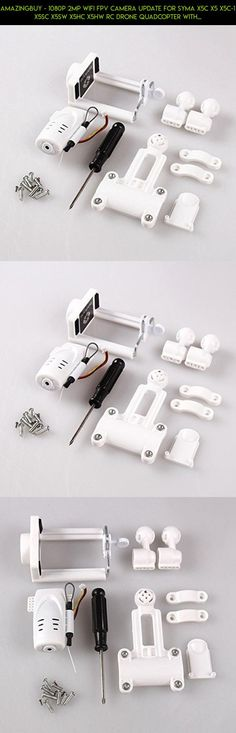 Amazingbuy - 1080p 2MP WiFi FPV Camera Update for SYMA X5C X5 X5C-1 X5SC X5SW X5HC X5HW RC Drone Quadcopter With Phone Holder Spare Parts #tech #technology #parts #fpv #plans #syma #products #kit #2mp #camera #shopping #racing #drone #camera #gadgets