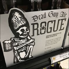 This Dead-Guy-Ale Rogue Merchandising has in truth gone totally rogue, pitching alcoholic refreshments in a candle shoppe. Self Promo, Wine And Spirits, Rogues, Spice Things Up, Ale, Create Your Own, Aesthetics, Alcohol, Retail