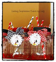 Drinks at a Mickey Mouse Party #mickeymouse #partydrinks