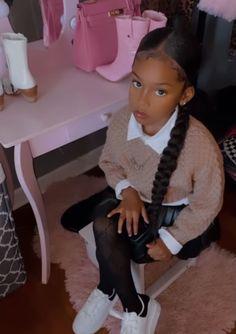 Little Girl Swag, Cute Little Girls Outfits, Kids Outfits Girls, Toddler Outfits, Cute Mixed Babies, Cute Black Babies, Beautiful Black Babies, Cute Babies, Black Baby Girls