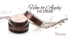The right way to apply eye cream