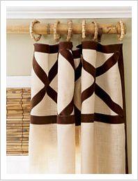 Ribbon + Plain Curtains = Custom Coverings!