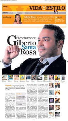 Editorial Design 2004-2013 Diana Gonzalez / dianagonzi Diario El Universo Music / Gilberto  Santa Rosa