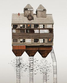 <p>In this beautiful mixed-media collages project, Swedish based artist Anastasia Savinova try to identify the differences and similarities between places of habitation. Travelling around cities and countries, she take pictures of buildings, sneakily looking through windows, going to local shops, flea markets and bars to watch everyday life of each cities – all this helps […]</p>