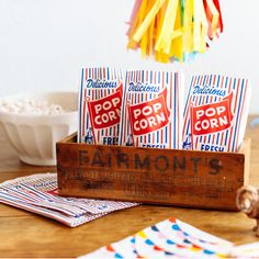 Perfect for your carnival-themed party, fundraiser events, or movie night at home!
