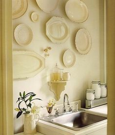 Beautiful platters on the wall. I love the warmth and inspiration it gives.