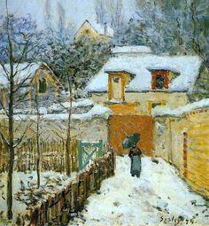 Impressionnisme : Alfred Sisley - Neige à Louveciennes (1878)