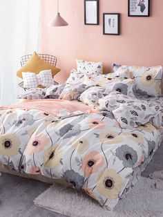 Teen girl bedrooms, styling idea number 5729589139 to freshen the area up today. Cute Room Decor, Room Decor Bedroom, Girls Bedroom, Master Bedroom, Cute Bed Sheets, King Size Bed Sheets, Cute Bedding, Teen Bedding, Dark Bedding