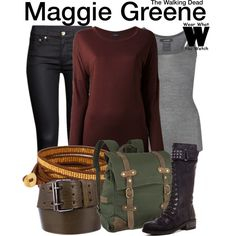 Inspired by Lauren Cohan as Maggie Greene on The Walking Dead.