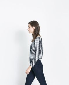 f984a3977a6c9 Image 2 of ORGANIC COTTON STRIPED T-SHIRT from Zara