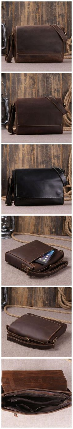 MEN VINTAGE LEATHER MESSENGER BAG CROSSBODY SHOULDER BAG SATCHEL BAG