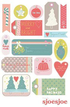 free christmas cards - printable // imprimible - etiquetas navideñas gratis