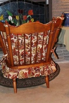 Vintage 60s TELL CITY ROCKING CHAIR Maple Colonial