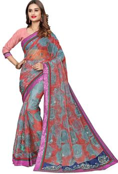 #Net #Sarees is one of the #best #indian #ethnic #dress, it is very #classic and #loved by the each and every #womens. #Nikvik is the #bestseller of #net #saree in #USA #AUSTRALIA #CANADA #UAE #UK Peach Saree, Net Blouses, Quality Lingerie, Embroidery Saree, Net Saree, Art Silk Sarees, Fancy Sarees, Indian Attire, Clothes For Women