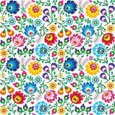 Seamless Polish Folk Art Floral Pattern