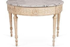 Amazingly beautiful Demilune Table w/Marble Top from Martyn Lawrence Bullard