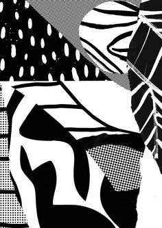 The Digital Foliage of Tom Abbiss Smith · Papirmass Art . Textures Patterns, Color Patterns, Print Patterns, Black And White Abstract, White Art, Abstract Pattern, Pattern Art, Pattern Design, Type Illustration