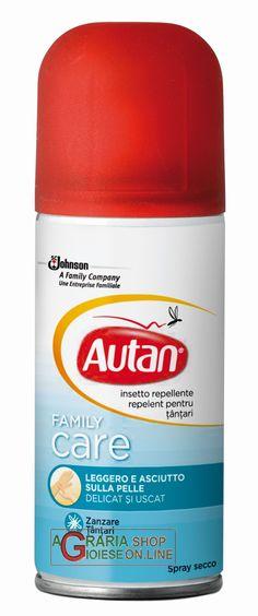 AUTAN FAMILY CARE REPELLENTE SPRAY ANTIZANZARE ML. 100 http://www.decariashop.it/cura-della-persona/758-autan-family-care-repellente-spray-antizanzare-ml-100.html