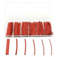 160pcs 2:1 Polyolefin Halogen-free Red Heat Shrink Tubing 6 Sizes. Description :  160Pcs 2 : 1 Polyolefin Halogen-Free Red Heat Shrink Tubing 6 Sizes  Specification :   Color : Red Length : 100mm This product has a 2 : 1 shrink ratio and is both UL & CSA certified for up to 600V @125 Degree Centigrade.   Product is also RoHS Compliant.   60pcs x 100mm lengths 1.5mm 35pcs x 100mm lengths 2.5mm   25pcs x 100mm lengths 3.0mm 20pcs x 100mm lengths 4.5mm 10pcs x 100mm lengths 6.0mm 10pcs x 100mm…