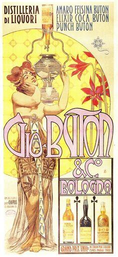 Vintage Italian Posters ~ #Vintage #Italian #posters Buton, liberty