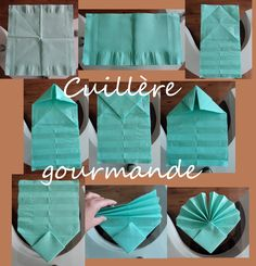 pliage serviette coquille st Jacques http://cuilleregourmand.canalblog.com/archives/2013/11/24/28502605.html