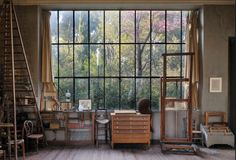 Atelier Cezanne - art studio with window wall