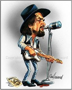 Waylon Jennings Limited Edition Celebrity Caricature by Don Howard by DonHowardStudios on Etsy Funny Caricatures, Celebrity Caricatures, Celebrity Drawings, Country Music Videos, Country Music Artists, Country Singers, Cartoon Faces, Funny Faces, Cartoon Art