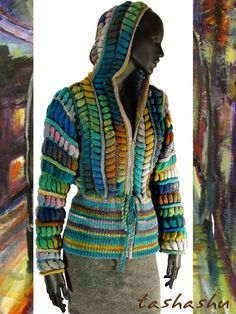 Tashashu Gordon - beautiful colourful hooded jacket