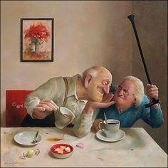 Marius van Dokkum - kunstkaart / wenskaart - liefde van 1 kant