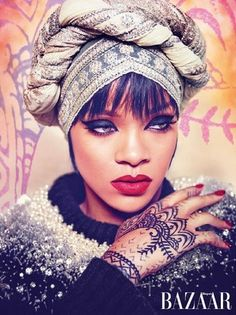 """Say hello to Rihanna of Arabia The style icon depicts """"The New Modesty: How To Cover Up In Style"""" in Harper's Bazaar Arabia summer issue cover story. Pic source: twitter.com/rihanna Cover shot by photographer, Ruven"""