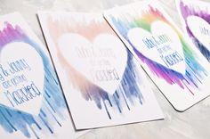 Watercolour Heart Wedding Invitation - Invite Suite sample £2.00