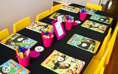 like the idea of a coloring book station and each kid takes home their book