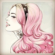Pink dye! sketch | Flickr - Photo Sharing!