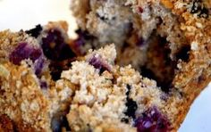 Blueberry Oat Bran Muffins....6 Tbsp. sunflower or canola oil  6 Tbsp. maple syrup  1 cup vanilla almond, soy or 1% milk  3/4 tsp. vanilla  6 Tbsp. Rapadura sugar  2-1/4 cups spelt flour (you could use whole wheat as well)  3/4 cup oat bran  1-1/2 tsp. baking soda  1/2 tsp. baking powder  1/4 tsp. nutmeg  3/4 tsp. sea salt  1-1/2 cups frozen blueberries