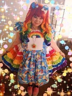Afbeeldingsresultaat voor lolita dress rainbow