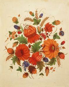 """Соколенко В.І. """"Помаранчеві квіти"""". 1957р."""