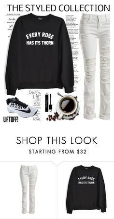 """""""Every Rose Has Its Thorn"""" by nightowl59 ❤ liked on Polyvore featuring WALL, Sans Souci, Private Party, NIKE and casualoutfit"""