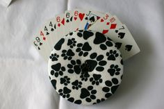 The Amazing Gripper Playing Card Holder! - Paw Prints! - pinned by pin4etsy.com