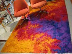 Ege Rya, c. 1970 colorful 100% wool rug