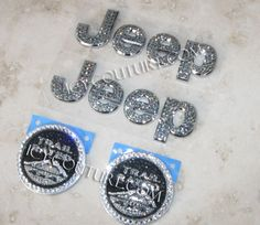 Bling-Bling!: ) ICY Couture Bedazzled JEEP Emblems! Select Your Crystal Set.