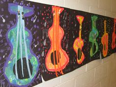 1st Grade Mexican Mariachi Guitars with Warm/Cool Colors - Jamestown Elementary Art Blog
