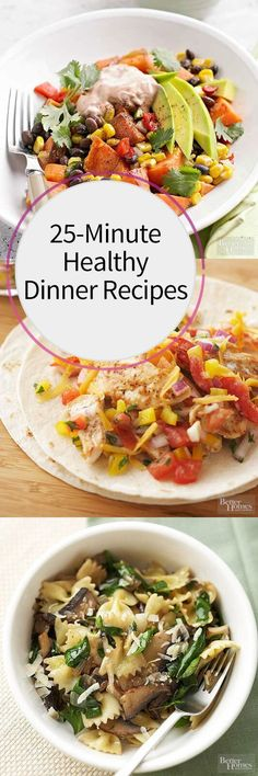 Make a #quick and #healthy dinner in less than 30 minutes with our easy recipes! Choose from lean protein, such as chicken and mix with delicious seasonings and vegetables for a dinner your family will love. #dinner #healthyrecipes #recipes