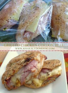 Grilled Chicken Cordon Bleu. Gluten Free Chicken Recipe! #Chicken #Glutenfree #Absolutelygf www.absolutelygf.com