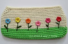Crochet School Pencil Case/Bag #crochet #case #bag