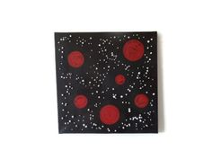 black original mixed media art acrylic painting by Kreativprodukte, Medium Art, Mixed Media Art, My Etsy Shop, The Originals, Artwork, Painting, Black, Creative Products, Aluminium Foil