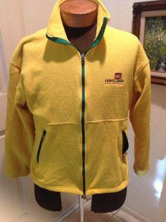 Legoland California Yellow and Green Womens Fleece Zippered Jacket Size Medium #Legoland #BasicJacket