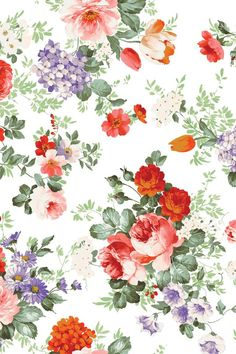 Flower wallpaper for iPhone or Android. Tags: flowers, floral, pattern, backgrounds, mobile.