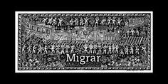 Ein mexikanisches Kunstwerk zum Thema Auswanderung und Flucht.