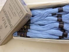 Antique Box of PeriLusta Filo 6 Strand Embroidery by papertales, $9.25