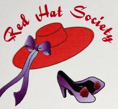 Red Hat Society Happy Birthday Cards Red Envelopes Set of 8 Red Hat Purple Shoes